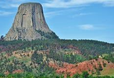 Monumento della torre del diavolo. Fotografie Stock Libere da Diritti