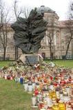 Monumento delle vittime di Katyn a Poznan Immagini Stock Libere da Diritti