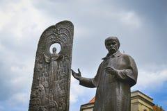 Monumento dello scrittore ucraino Taras Shevchenko Immagine Stock Libera da Diritti