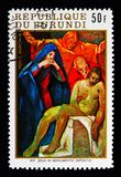monumento depositus的,复活节II耶稣 W的14个驻地 免版税库存图片