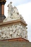 monumento di albert nel kingdome e nella vecchia costruzione immagine stock