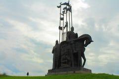 Monumento di Alexander Nevsky Pskov, Russia Immagini Stock