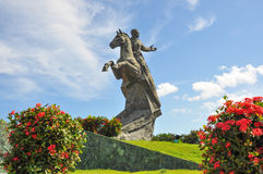 Monumento di Antonio Maceo in Santiago di Cuba, Cuba immagini stock libere da diritti