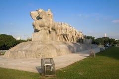 Monumento di Bandeiras Fotografia Stock Libera da Diritti