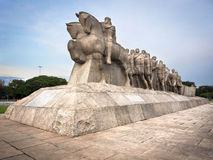 Monumento di Bandeiras a Sao Paulo, Brasile Immagine Stock