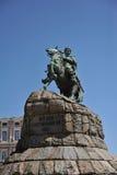 Monumento di Bohdan Chmielnicki, Kiev fotografie stock libere da diritti