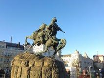 Monumento di Bohdan Khmelnytsky, Kyiv Fotografia Stock