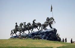 Monumento di Buzkashi Fotografia Stock Libera da Diritti