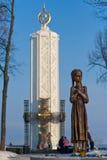 Monumento di carestia a Kiev immagine stock