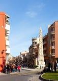 Monumento di Castells a Valls fotografie stock libere da diritti