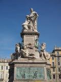 Monumento di Cavour a Torino fotografia stock libera da diritti