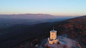 Monumento di Cerje da sopra video d archivio