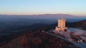 Monumento di Cerje da sopra stock footage