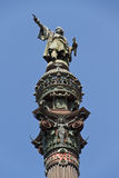 Monumento di Columbus, Barcellona immagini stock