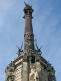 Monumento di Columbus a Barcellona Fotografie Stock Libere da Diritti