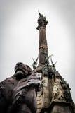 Monumento di Columbus, Barcellona Fotografia Stock