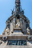 Monumento di Columbus, Barcellona Fotografia Stock Libera da Diritti