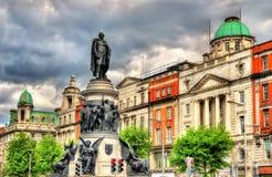 Monumento di Daniel O'Connell a Dublino Fotografie Stock