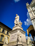 Monumento di Dante Alighieri a Firenze, Italia Immagine Stock