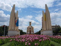 Monumento di democrazia della Tailandia Fotografie Stock Libere da Diritti