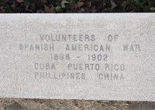 Monumento di guerra di vista del primo piano dedicato ai morti di tutte le guerre nei veterani giardino commemorativo, Dallas, il immagine stock libera da diritti