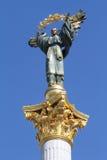 Monumento di indipendenza nel quadrato di indipendenza, Kiev immagine stock libera da diritti
