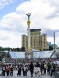 Monumento di indipendenza sul quadrato principale a Kiev, Ucraina immagine stock libera da diritti