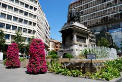 Monumento di Isabella e di Ferdinand, Granada immagine stock libera da diritti