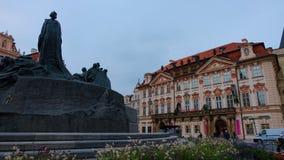 Monumento di Jan Hus al quadrato di Città Vecchia, Praga Immagini Stock Libere da Diritti
