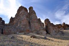 Monumento di John Day Fossil Beds National, Oregon Fotografia Stock Libera da Diritti