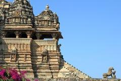 Monumento di Khajuraho immagini stock libere da diritti