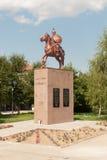 Monumento di Khan Asparukh in Strelcha Bulgaria fotografia stock libera da diritti