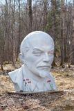Monumento di Lenin in parco del lago Razliv fotografie stock libere da diritti