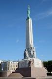 Monumento di libertà a Riga Immagine Stock