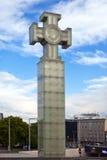 Monumento di libertà sul quadrato di libertà, Tallinn, Estonia Fotografia Stock Libera da Diritti