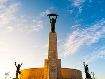 Monumento di Liberty Statue a Citadella sulla collina di Gellert a Budapest, Ungheria Immagini Stock