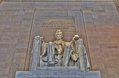 Monumento di Lincoln Fotografie Stock