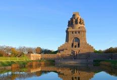 Monumento di Lipsia alla battaglia delle nazioni Fotografia Stock Libera da Diritti