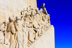 Monumento di Lisbona, Portogallo alle scoperte Immagini Stock Libere da Diritti