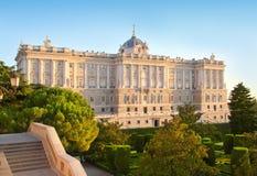 Monumento di Madrid Palacio de Oriente fotografia stock libera da diritti