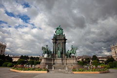 Monumento di Maria Theresa a Vienna Fotografia Stock
