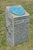 Monumento di Maryland - campo di battaglia nazionale di Antietam Fotografia Stock