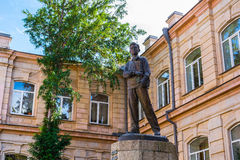 Monumento di Mayakovsky in Kutaisi fotografia stock libera da diritti