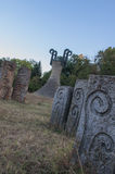 Monumento di Memorial Park Hisar in Leskovac Fotografie Stock Libere da Diritti