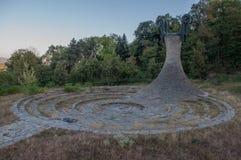 Monumento di Memorial Park Hisar in Leskovac Fotografia Stock Libera da Diritti
