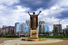 Monumento di Minsk Frantsisk Skorina immagini stock libere da diritti