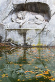 Monumento di morte del leone in Lucerna Fotografie Stock