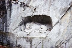 Monumento di morte Lucerna Svizzera del leone fotografie stock