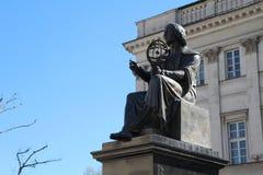 Monumento di Nicolaus Copernicus a Varsavia Fotografia Stock