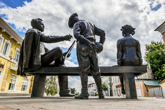 Monumento di Nikita Mikhalkov dallo scultore Alexandr Taratynov in Yele immagini stock
